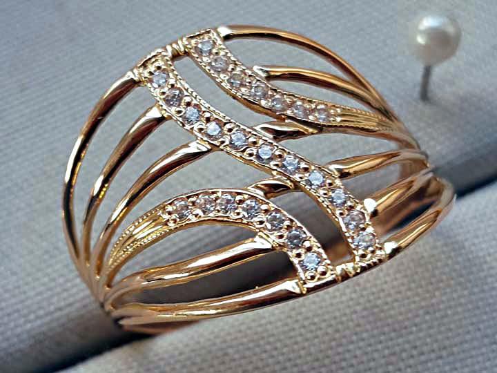женские кольца из золота без вставок